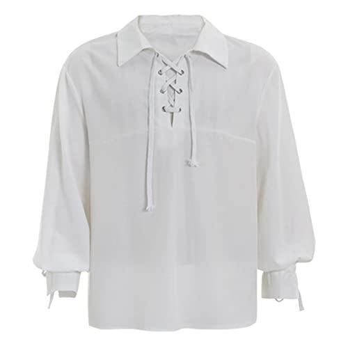 KBUY Herren Cosplay Gothic Rüschenhemd...
