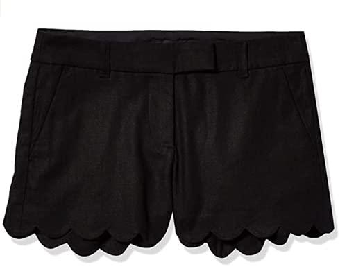 J.Crew Women's Scallop Hem Short (6, Black)