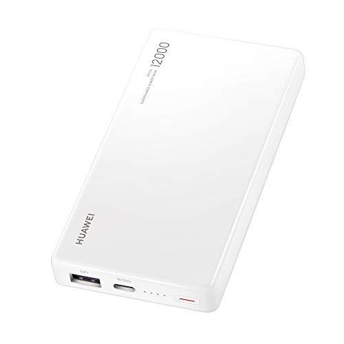HUAWEI 55030727 Power Bank - Externe Akkus (12.000 mAh, Ausgang 10V4A/5V4.5A/9V2A, Typ C) Weiß