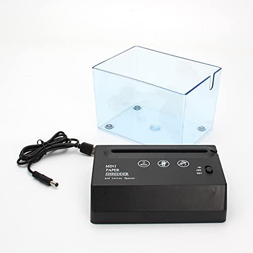 HEYLULU Mini trituradora de Papel portátil, trituradora eléctrica con batería USB, Herramienta de Corte de Papel para Documentos para la Oficina en casa