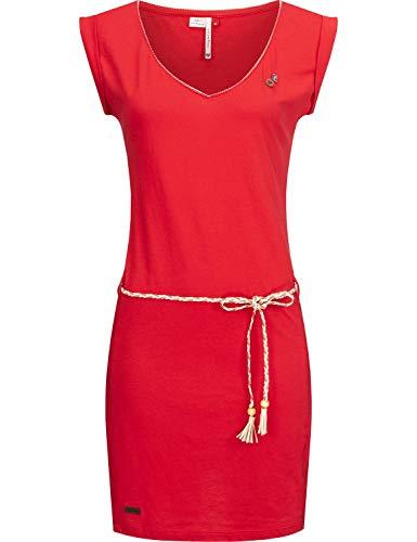 Ragwear Damen Kleid Dress Sommerkleid Strandkleid Jerseykleid Freizeitkleid Slavka Rot20 Gr. XS