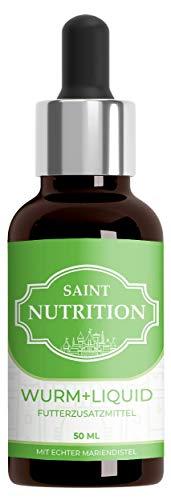 Saint Nutrition® Wurm+ Liquid Vegan, besonders zu empfehlen für den Hund und die Katze - flüssige Alternative zur Wurmkur, natürliche Ernährung für Katzen und Hunde