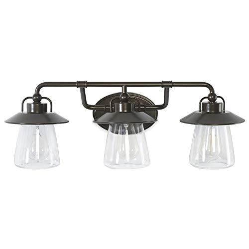 allen + roth Bristow 3-Light Bronze Traditional Vanity Light