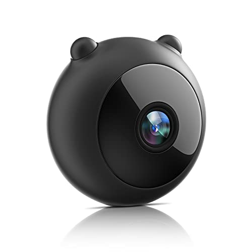 Mini Spy Camera, HJSHI HD 1080P WiFi Hidden Camera Nanny Cam with Night Vision, Motion Detection, App Remote Access - Indoor Covert Security Camera for Home