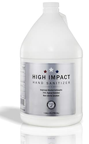 High Impact Gel Hand Sanitizer with 75% Isopropyl Alcohol...