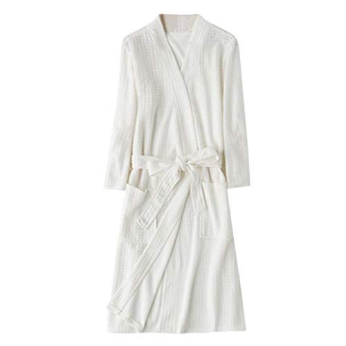 TEBAISE Unisex Bademantel Reisebademantel Baumwolle Damen und Herren Übergrößen Morgenmantel Kimono Saunamantel Reise Morgenrock Frauen Männer