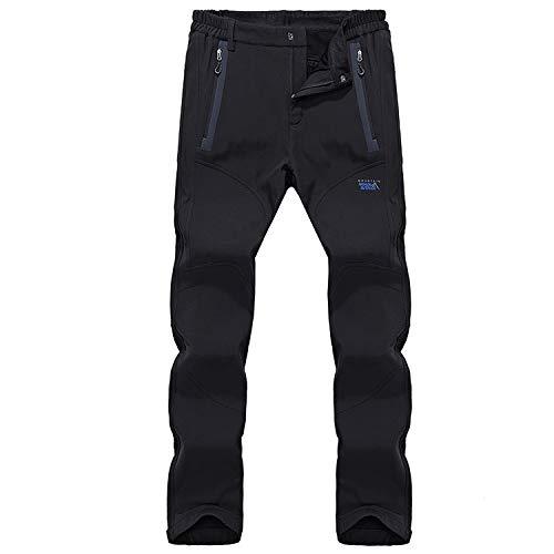 Pantaloni uomo elasticizzati con FODERA TERMICA da passeggio Cargo 5 tasche