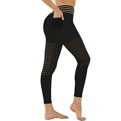 ZAYZ Imprimir Pantalones de Yoga Fruncido Bolsillo Trasero Leggings Levanta Cola Medias de Botín Adelgazantes Comodidad Ligera para Entrenamiento Atlético Corriendo (Color : Style 3, Size : X-Large)
