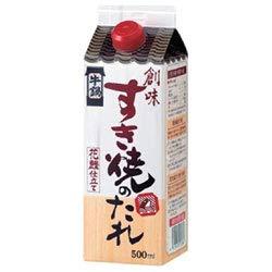 創味食品 創味 すき焼きのたれ 500ml紙パック×6本入×(2ケース)