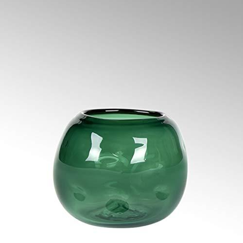 Lambert - Vase Carracci - Smaragd - H15 x D 20 cm - Farbglas