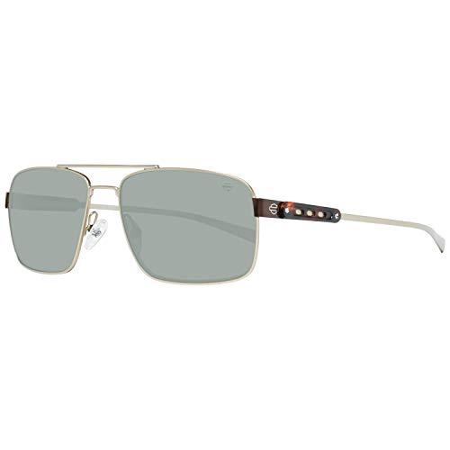 Harley Davidson Sonnenbrille HD2047 32Q 58 Gafas de sol, Dorado (Gold), 58.0 para Hombre