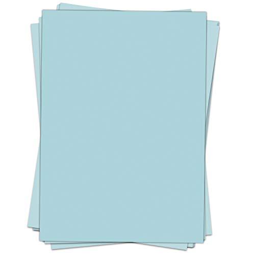 50 Blatt Briefpapier (A4) | Türkis Hellblau | Motivpapier | edles Design Papier | beidseitig bedruckt | Bastelpapier | 90 g/m²