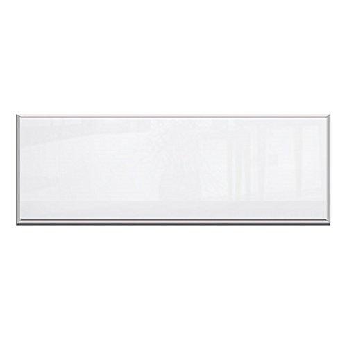 Glas Infrarotheizung 320 Watt, 120 x 35 cm, weiß, Alurahmen
