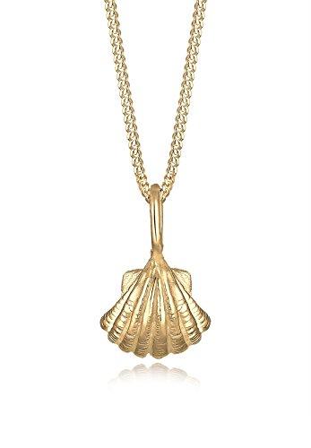 Elli damesketting met hanger schelp choker verguld 40 cm - 0104240716_40