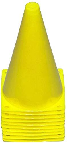 Boje Sport 10er Set Markierkegel, 23 cm, gelb, für das Fußballtraining, Trainingshilfen, Leitkegel, Verkehrshütchen für Kinder, Sport, Inlineskating, Reitsport und Leichtathletik