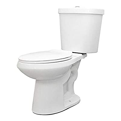 Glacier Bay 2-piece 1.1 GPF/1.6 GPF High Efficiency Dual Flush Complete Elongated Toilet in White, Seat Included (3-Pack)