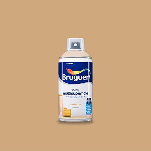 Bruguer Acrylic Multisuperficie Esmalte al agua en Spray Satinado Avellana 300 ml, marrón