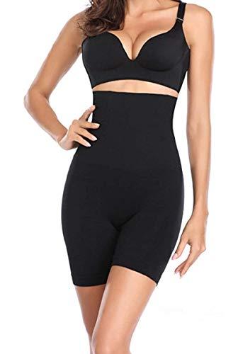 Quickty Women's Spandex & Nylon Tummy Control High Waist and Thigh Shapwear (Free Size Fit Up to M-L-XL-XXL) (Black)