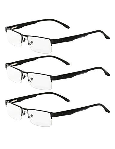 3-Pack Leesbril Computer Bril Voor Dames en Mannen - Klassiek Scharnieren met veer Lichtgewicht Lezer Brillen