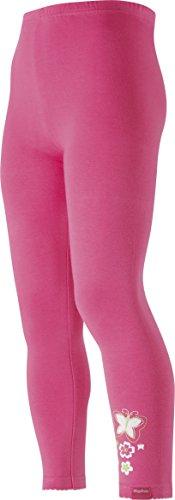 Playshoes Mädchen lang mit Crochets Legging, Rosa (pink 18), (Herstellergröße: 98)