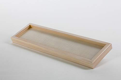 RECTANG Wooden tray 9 3 x 32 5 cm