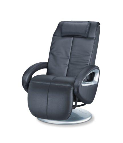 Beurer MC 3800 Shiatsu-Massagesessel, Massagestuhl für eine wohltuende Entspannungs-Massage von Rücken und Beinen, mit Vibrationsmassage, schwarz