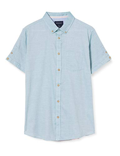 Springfield Structure Short Franq-C/24 Camisa Casual, Verde (Green 24), XS (Tamaño del Fabricante: XS) para Hombre