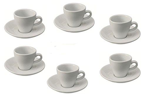 Espressotasse Italia inklusive Untertasse - 6er Pack