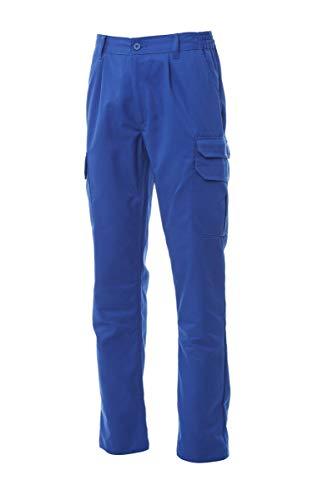 PAYPER Cargo 2.0 Pantalone da Uomo Donna Multitasche Misto Cotone Chiusura Zip portametro Tasche Anteriori Laterali Posteriori (Blu Royal, XS)