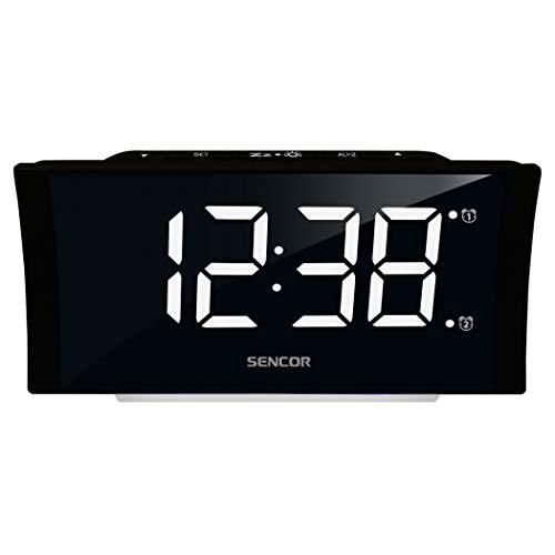 SENCOR SDC 4930 W digitale wekker, 1 watt, groot display, zwart
