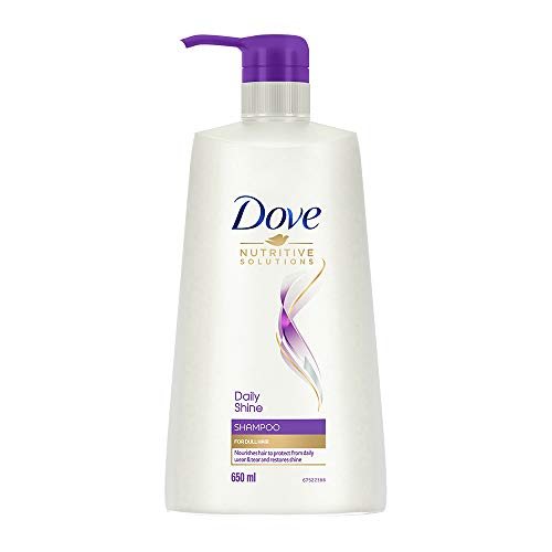 Dove Daily Shine Shampoo - For Dull And Frizzy Hair, Makes Hair Soft, Shiny And Smooth, 650 ml