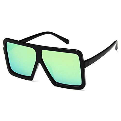 Gafas de Sol Sunglasses Nuevas Gafas De Sol De Gran Tamaño para Mujer, Hombre, Diseñador De Lujo, Gafas De Sol Vintage para Mujer, Montura Grande, Gafas Negras C7Anti-UV