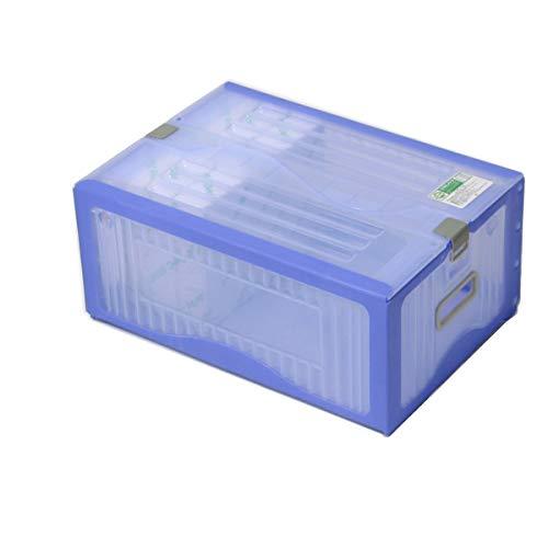 アースダンボール 収納ボックス ふた付き コンテナボックス プラスチック 1箱 ブルー 【445×312×186mm】【1333】