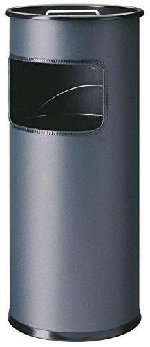 Durable 333058 - Posacenere a colonna da 2 lt con sabbia e cestino da 17 lt, acciaio verniciato, 620x260 mm (Hx Diametro), colore carbone