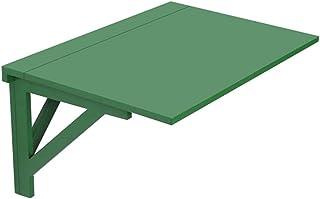 LSXIAO Mural Flottant Table Pliable, Portable Poste De Travail De Bureau, Feuille Tombante Table À Manger Étagère Suspendu...