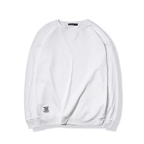 2024 suéter Casual para Hombres de Color sólido Nuevo Jersey Deportivo de Cuello Redondo para Hombres Camiseta de Manga Larga Ropa para Hombres Camisa de Fondo