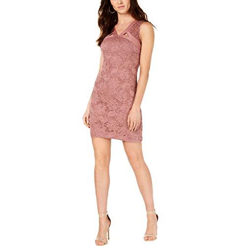 Guess vestido de fiesta de encaje superpuesto para mujer -  Rosa -  38