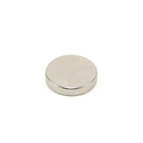 Magnet Expert® F255-1 diamètre de 25mm x 5mm épaisseur Aimant en néodyme N42-9,3 kg Pull (Pack de 1), Argent