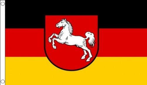 AZ FLAG Flagge Niedersachsen 90x60cm - Niedersachsen Fahne 60 x 90 cm - flaggen Top Qualität