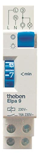 Theben 0090001 ELPA 9 - Elektromechanischer Treppenlicht-Zeitschalter und 0 Watt Stand-by-Verbrauch