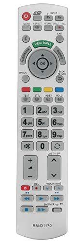 ALLIMITY RM-D1170 Fernbedienung Ersetzt für Panasonic LED LCD Bravia Plasma TV N2QAYB000752 N2QAYB000715 N2QAYB000672 N2QAYB000504 N2QAYB000490 N2QAYB000572 N2QAYB000673