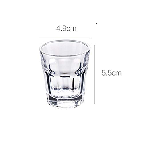 Tgbyhnujm borrelglas, transparant, kleine capaciteit, zonder lood, glas, likeurbeker, wijn, bar, restaurant, huishouden