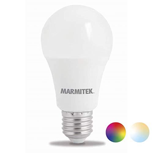 Glow MO - Marmitek Smart me - Smart WiFi LED Lampe - E27 - 806 lumen - RGB - 16 Mio Farben - 9 W = 60 W - A60 - LED Glühbirne - Dimmbar mit app - Kompatibel mit Alexa, Google Assistant - Kein Hub