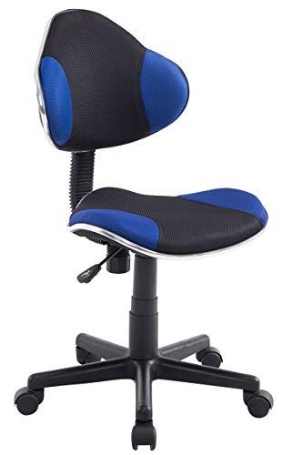 CLP Sedia da Ufficio Bastian in Rete Traspirante I Sedia Lavoro Regolabile 39-51 CM I Poltrona Ergonomica Scrivania, Colore:Blu