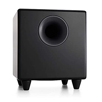 Audioengine S8 250W Powered Subwoofer   Built-in Amplifier   RCA and 3.5mm inputs   Cables included (Black) from Audioengine