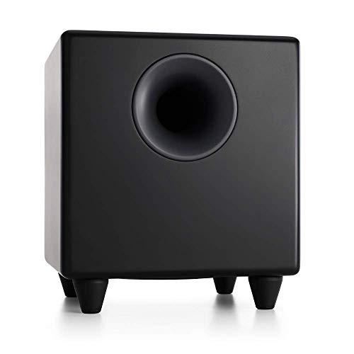Audioengine S8 250W Aktiver Subwoofer   Eingebauter Verstärker   Cinch- und 3,5mm-Klinken-Eingänge   Kabel inklusive (Schwarz)