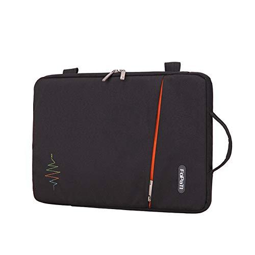 "GUOCU Funda Portátil, Maletín de Bolsa Impermeable, Sleeve Compatible con Macbook Air/Pro, MacBook Pro de 13 '', 12.3 Surface Pro, Surface Laptop,Negro,15""(41X28.5X3cm)"