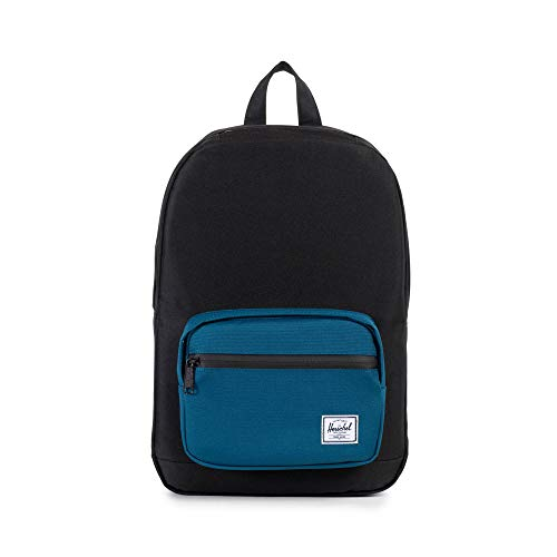 Herschel Pop Quiz Backpack, Black/Ink Blue, Mid-Volume 13L