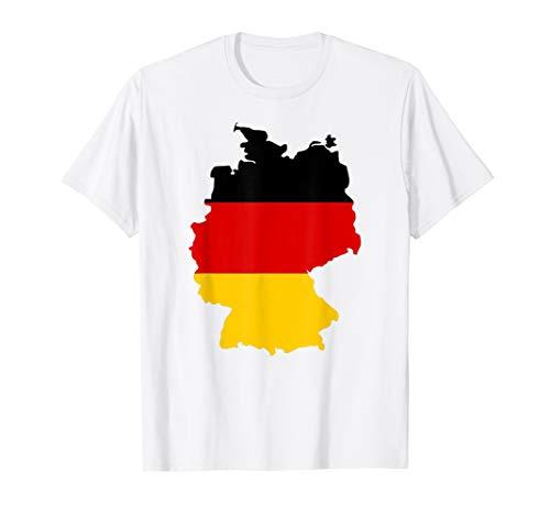 Deutschland Karte Flagge T-Shirt