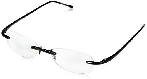 Scojo Gels Readers Reading Glasses (Midnight, +1.50 Magnification Power)